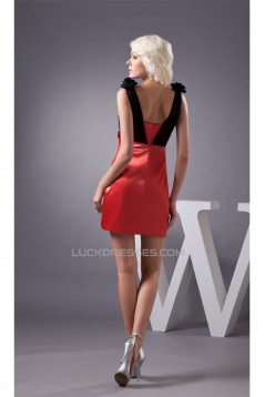 Short/Mini Sheath/Column V-Neck Ruched Prom/Formal Evening Dresses 02021390
