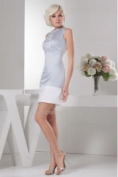 Short/Mini Soft Satin Portrait Sleeveless Prom/Formal Evening Dresses 02021395