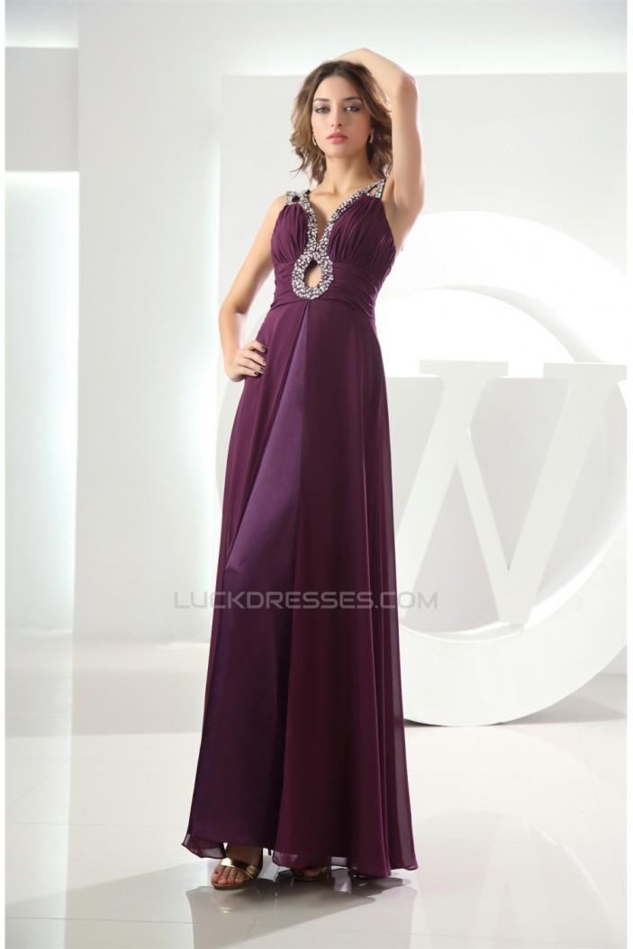 Chiffon Ankle-Length A-Line Purple Prom/Formal Evening Dresses 02020140