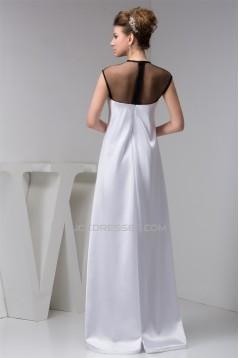 Silk like Satin Fine Netting Sleeveless Mother of the Bride Dresses 02021401