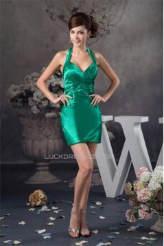Silk like Satin Short/Mini Criss Cross Prom/Formal Evening Dresses 02021403