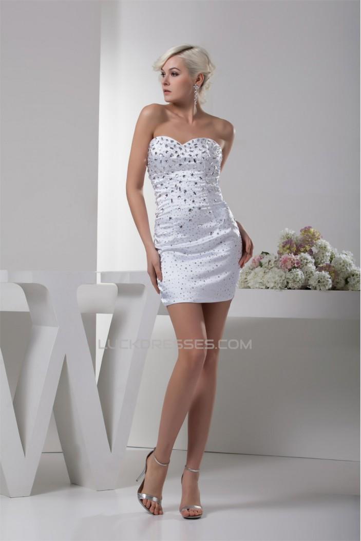 Silk like Satin Sleeveless Sweetheart Beading Mother of the Bride Dresses 02021405