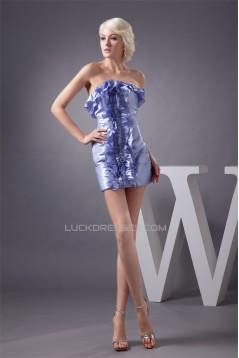 Sleeveless 395 Satin Strapless Short/Mini Prom/Formal Evening Dresses 02021406