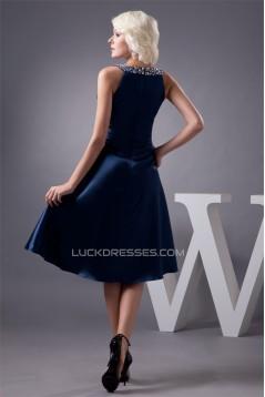 Sleeveless Beading Silk like Satin V-Neck Prom/Formal Evening Dresses 02021410