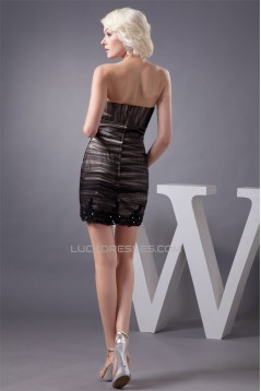 Sleeveless Short/Mini Sheath/Column Beading Prom/Formal Evening Dresses 02021422