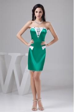 Sleeveless Silk like Satin Short/Mini Beading Best Bridesmaid Dresses 02021424