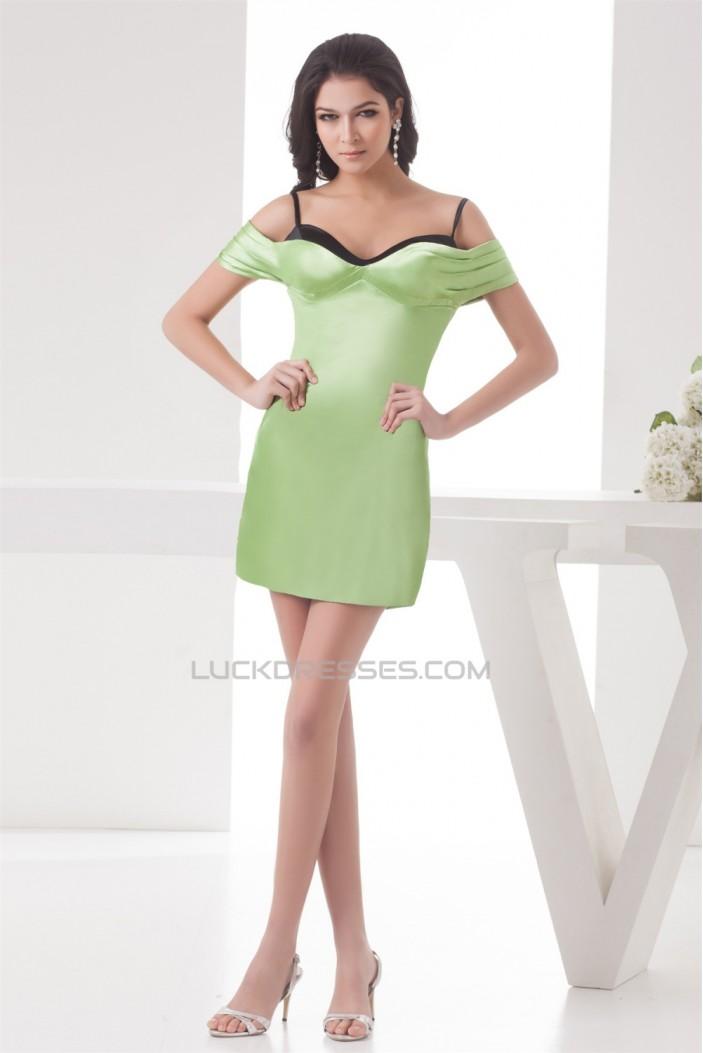 Spaghetti Straps Sheath/Column Elastic Woven Satin Prom/Formal Evening Dresses 02021426
