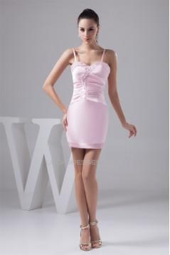 Spaghetti Straps Silk like Satin Sheath/Column Prom/Formal Evening Dresses 02021427