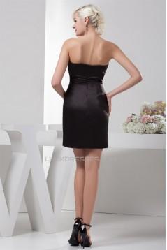Strapless Satin Silk like Satin Sheath/Column Prom/Formal Evening Dresses 02021430