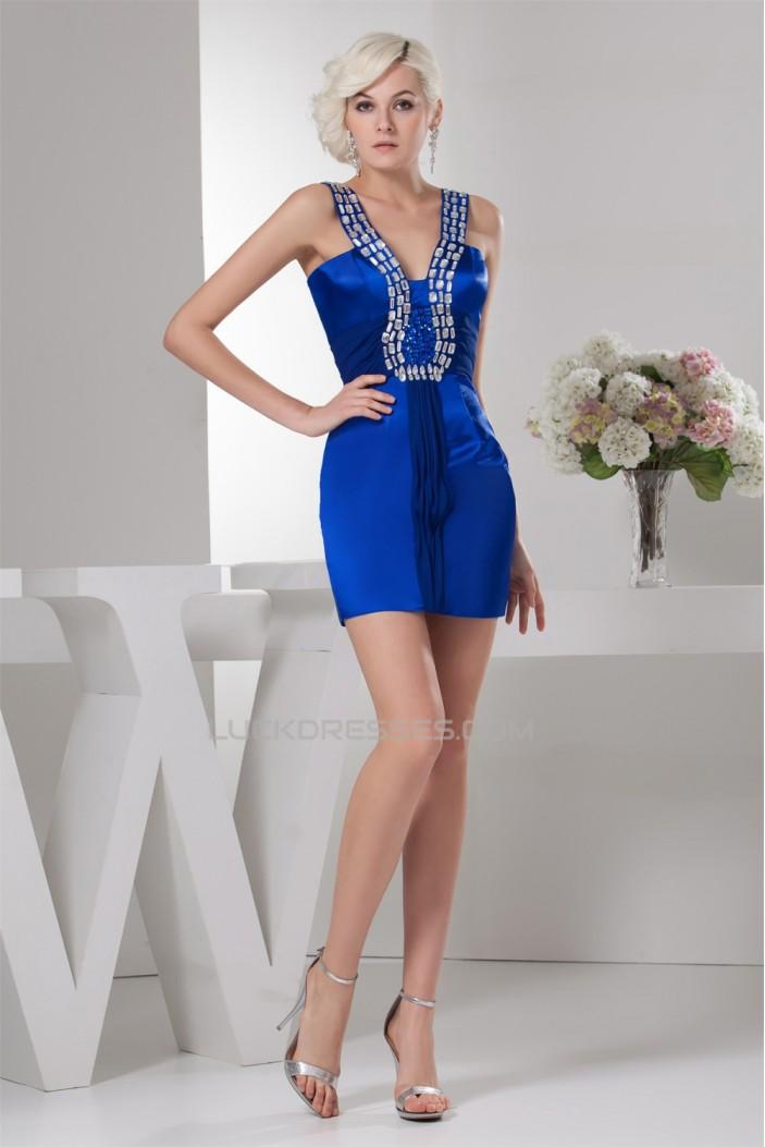 Straps Sheath/Column Sleeveless Beading Prom/Formal Evening Dresses 02021431