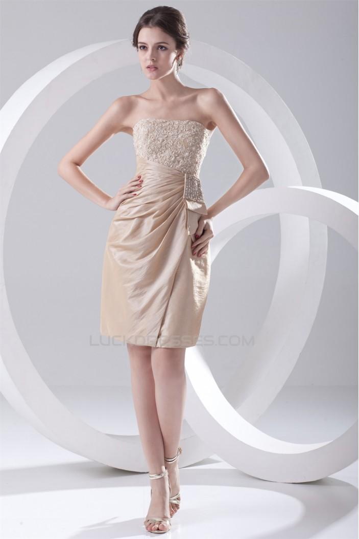 Short/Mini Strapless Prom/Formal Evening Dresses 02021435