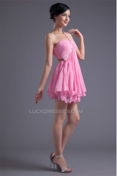 A-Line One-Shoulder Criss Cross Short/Mini Prom/Formal Evening Dresses 02021438