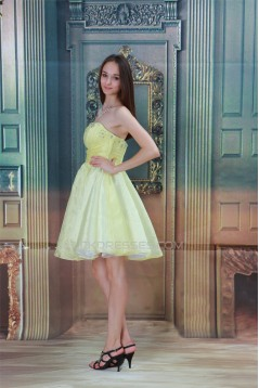 A-Line Satin Knee-Length Beading Sleeveless Prom/Formal Evening Dresses 02021442