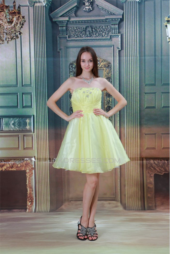 A-Line Satin Knee-Length Beading Sleeveless Prom/Formal Evening Dresses 02021442