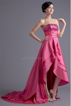Asymmetrical A-Line Sleeveless Tiered Strapless Prom/Formal Homecoming Evening Dresses 02021446