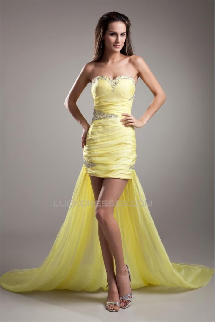 Asymmetrical Chiffon Beading Sleeveless Prom/Formal Evening Homecoming Dresses 02021448
