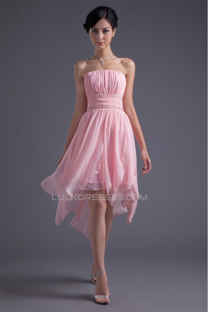 Asymmetrical Sleeveless Chiffon Silk like Satin Prom/Formal Homecoming Evening Dresses 02021449