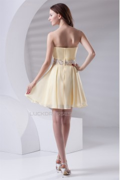 Beading A-Line Chiffon Prom/Formal Evening Cocktail Homecoming Dresses 02021451