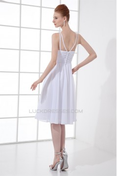 Beading A-Line Knee-Length Sleeveless Chiffon Prom/Formal Evening Bridesmaid Dresses 02021452