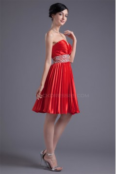 Beading Elastic Woven Satin A-Line Sweetheart Prom/Formal Evening Cocktail Dresses 02021453