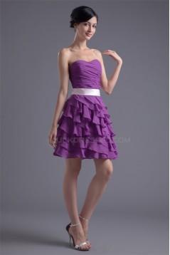 Bows Chiffon Silk like Satin Sleeveless Prom/Formal Evening Dresses 02021457