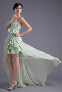 Chiffon Silk like Satin Beading A-Line Sweetheart Prom/Formal Evening Dresses 02021464