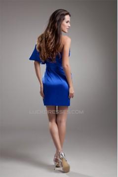 Half Elbow Length Elastic Woven Satin Sheath/Column Prom/Formal Evening Dresses 02021468