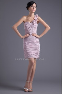 Handmade Flowers Sleeveless One-Shoulder Prom/Formal Evening Dresses 02021469