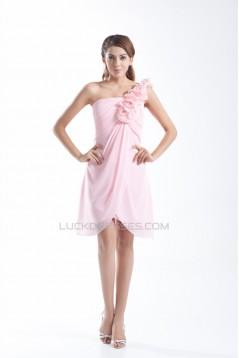 Handmade Flowers Sleeveless Sheath/Column Prom/Formal Evening Bridesmaid Dresses 02021470