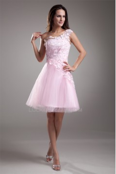Lace Short/Mini One-Shoulder Prom Evening Cocktail Homecoming Dresses 02021474