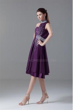 One-Shoulder Elastic Woven Satin Sleeveless Prom/Formal Evening Dresses 02021476