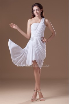 One-Shoulder Sleeveless Short/Mini Ruffles Prom/Formal Evening Dresses 02021479