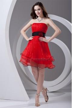 Organza Elastic Woven Satin A-Line Sleeveless Prom/Formal Evening Dresses 02021480