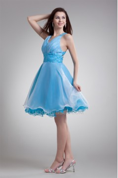 Organza Elastic Woven Satin Short/Mini Prom/Formal Evening Dresses 02021481