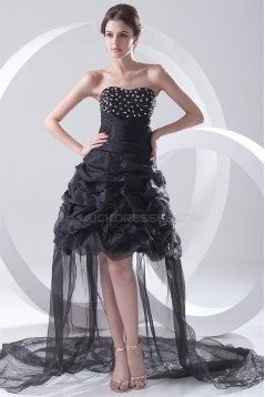 Organza Silk like Satin Sleeveless Asymmetrical Prom/Formal Evening Dresses 02021485
