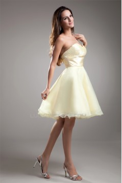 Organza Silk like Satin Sweetheart Beading Prom/Formal Evening Dresses 02021486