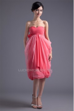 Pleats Knee-Length A-Line Sweetheart Sleeveless Prom/Formal Evening Dresses 02021488