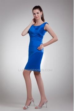 Satin Scoop Sleeveless Short/Mini Pleats Prom/Formal Evening Dresses 02021491