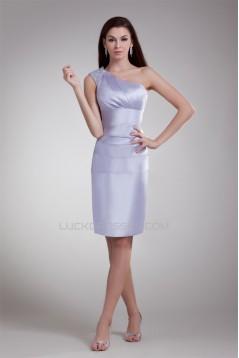 Sheath/Column Satin Short/Mini Sleeveless Prom/Formal Evening Dresses 02021497