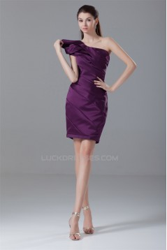 Sheath/Column Short/Mini Satin Sleeveless Prom/Formal Evening Dresses 02021499