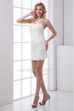 Sheath/Column Short/Mini Sleeveless Chiffon Prom/Formal Evening Dresses 02021500