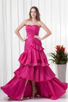 Sheath/Column Taffeta Sweetheart Brush Sweep Train Prom/Formal Evening Dresses 02021501