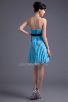 Short/Mini Bow s Sleeveless Strapless Prom/Formal Evening Dresses 02021502