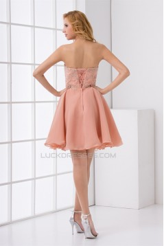 Short/Mini Chiffon Elastic Woven Satin Prom/Formal Evening Cocktail Homecoming Dresses 02021503