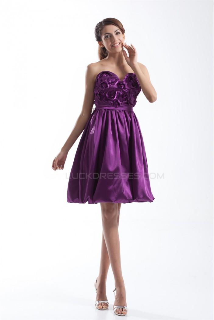 Short/Mini Handmade Flowers Sweetheart Prom/Formal Evening Cocktail Homecoming Dresses 02021506