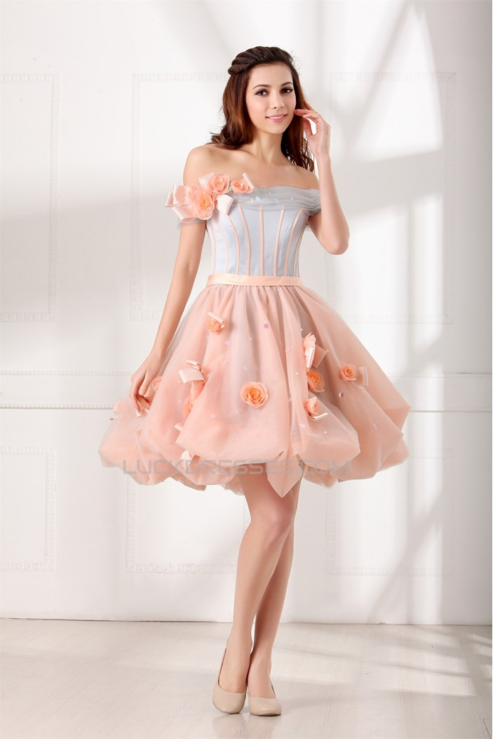 Short/Mini Off-the-Shoulder Princess Sleeveless Prom/Formal Evening Cocktail Homecoming Dresses 02021507