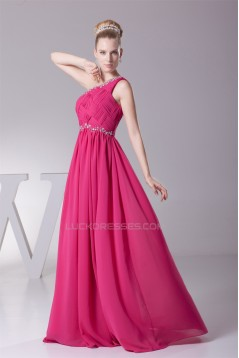 A-Line One-Shoulder Beading Long Prom Evening Formal Bridesmaid Dresses 02020151