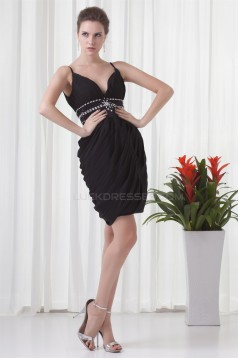 Short/Mini Sleeveless Beading Sheath/Column Prom/Formal Evening Dresses 02021511
