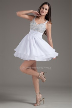 Short/Mini Straps Beading Chiffon Prom/Formal Evening Homecoming Dresses 02021515