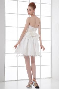 Silk like Satin Strapless Handmade Flowers Prom/Formal Evening Dresses 02021518